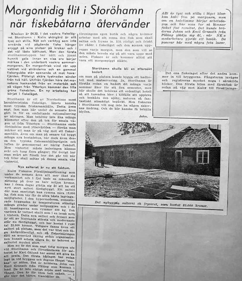 Tidningsartikel från 1948.